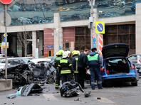 Последствия ДТП на Новинском бульваре