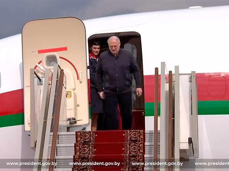 Президент Белоруссии Александр Лукашенко прибыл с рабочим визитом в Россию