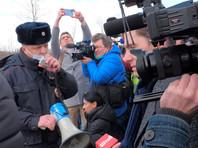 Журналисты у ИК-2 в городе Покров