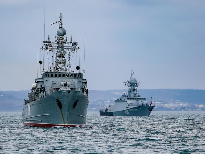 Корабли Черноморского флота, часть сил Каспийской флотилии Южного военного округа уже вышли в море в район проведения учений