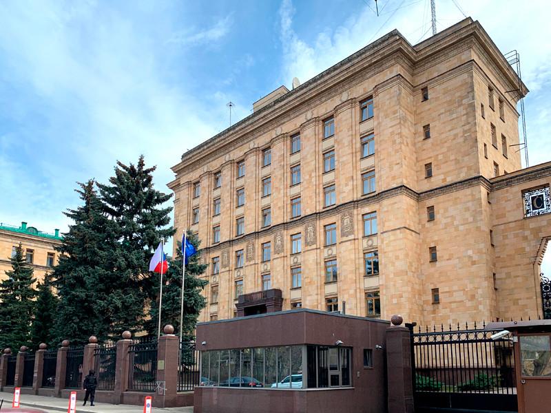 Обстановка у посольства Чехии в Москве, 19 апреля 2021 года