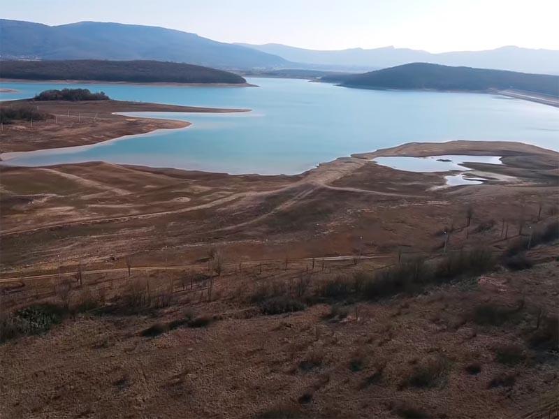 Чернореченское водохранилище, март 2021 года