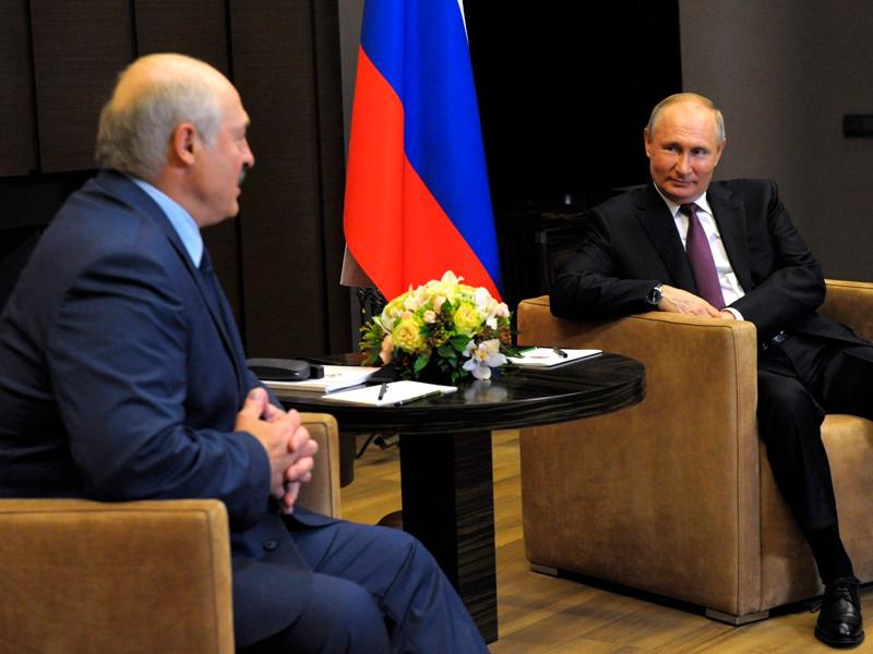Владимир Путин и Александр Лукашенко, 28 мая 2021 года