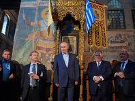 Путин на Афоне сел на трон византийских императоров и объявил гору источником благодати