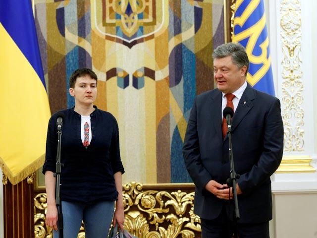 Надежда Савченко и Петр Порошенко, Киев, 25 мая 2016 года