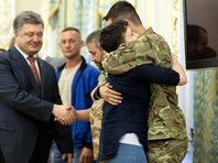 Надежда Савченко и Петр Порошенко, 25 мая 2016 года