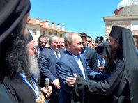 Путин посетил Афон, поучаствовав в мероприятиях в честь 1000-летия появления русских монахов на Святой горе