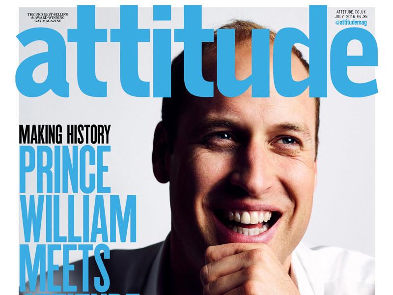 Британский принц Уильям снялся для обложки самого популярного в Великобритании журнала для геев Attitude в знак протеста против преследования людей из-за их сексуальной ориентации