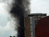 В Лондоне после серии взрывов загорелась жилая высотка