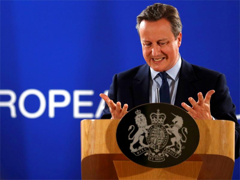 Премьер Великобритании Дэвид Кэмерон на саммите ЕС в Брюсселе