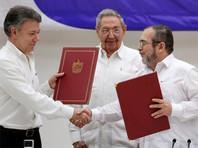 Колумбия подписала перемирие с боевиками FARC, завершая 50-летнюю войну