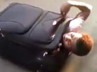 Мигранту не удалось попасть из Италии в Швейцарию в чемодане (ВИДЕО)