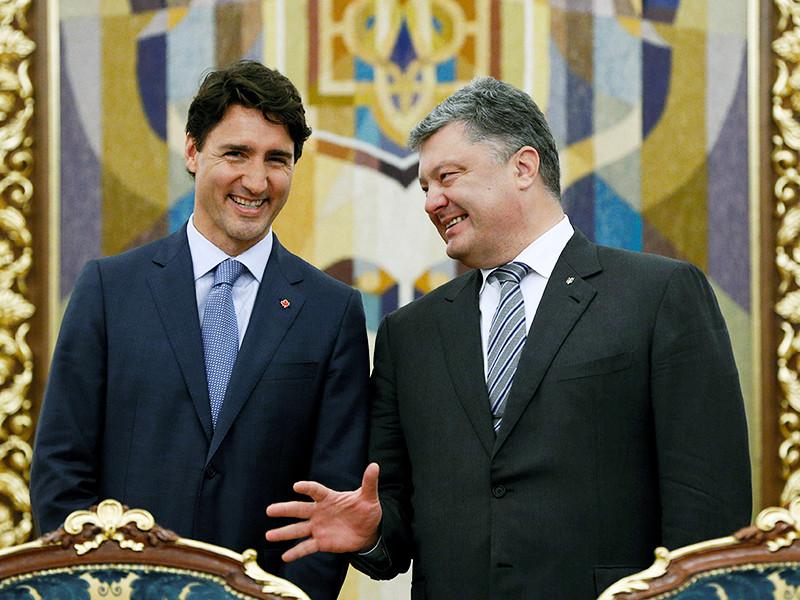 """Премьер-министр Канады Джастин Трюдо, встретившись в Киеве с президентом Украины Петром Порошенко, заявил, что Россия в плане исполнения обязательств по минским соглашениям не является """"позитивным партнером"""""""