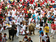 В Испании во время забега с быками пострадали четыре человека