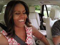 """Мишель Обама исполнила любимые песни в """"автомобильном караоке"""" Джеймса Кордена (ВИДЕО)"""