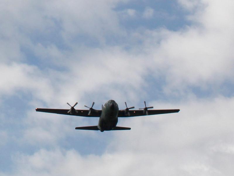 В Португалии загорелся при взлете и разбился военно-транспортный самолет C-130