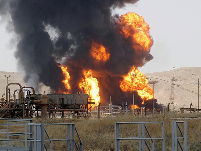 Группа экстремистов атаковала нефтехранилище Бай-Хасан на северо-западе города Киркук (Иракский Курдистан)