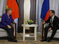 Медведев почти час обсуждал с Меркель ситуацию на Украине и отношения РФ с Евросоюзом