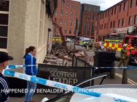 В Глазго после взрыва стена дома рухнула на улицу