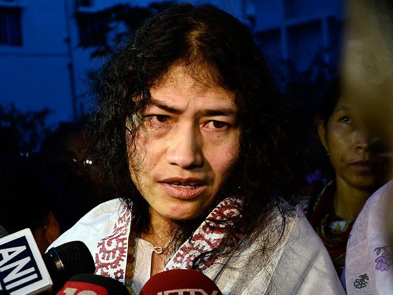 Активистка из штата Манипури, одна из самых известных политических деятелей Индии Иром Шармила Чану во вторник, 8 августа, завершила голодовку, длившуюся 16 лет