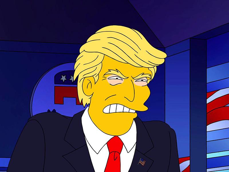 """Создатели анимационного сериала """"Симпсоны"""" выпустили короткометражный мультфильм, в котором главные герои Гомер и Мардж делают свой выбор о том, за кого они будут голосовать на предстоящих президентских выборах в США"""