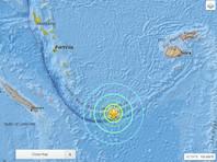 Мощное землетрясение произошло у островов Вануату в Тихом океане
