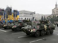По случаю 25-летней годовщины со Дня независимости Украины в Киеве прошел военный парад