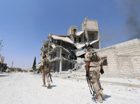 """Арабско-курдские вооруженные группы, известные как """"Демократические силы Сирии"""", изгнали большинство боевиков из города еще на прошлой неделе, но некоторое количество осталось"""