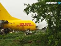 Грузовой самолет в аэропорту Бергамо сошел со взлетно-посадочной полосы и выкатился на шоссе (ФОТО)