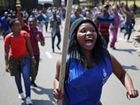 В Йоханнесбурге произошли столкновения студентов с полицией