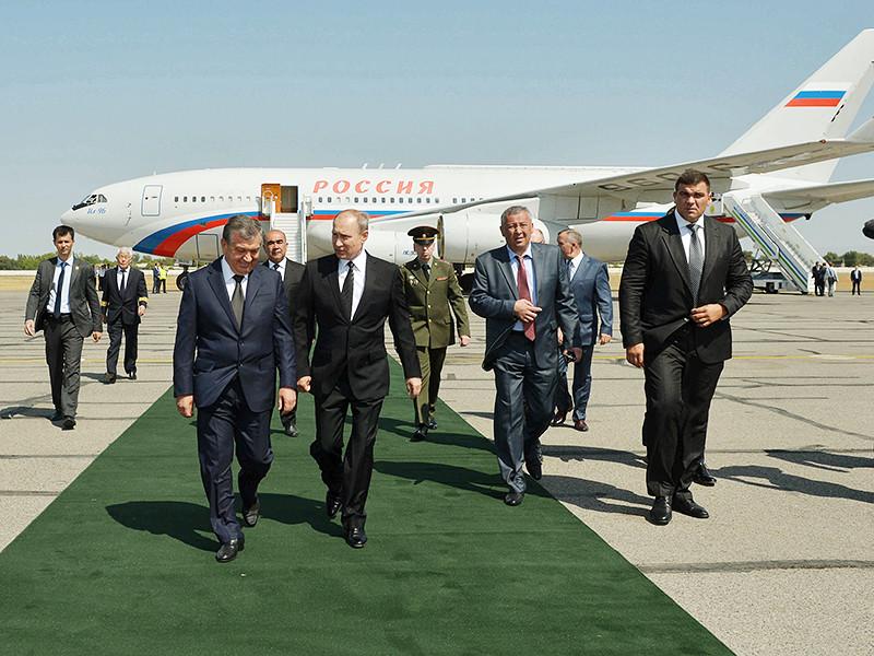 Президент РФ Владимир Путин прибыл в Самарканд, чтобы почтить память ушедшего из жизни президента Узбекистана Ислама Каримова