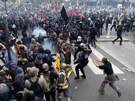 В Париже из-за реформы трудового законодательства произошли столкновения протестующих с полицией