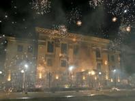 Посольство России в Киеве вновь атаковали с помощью пиротехники