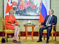 """Британский премьер, встретившись с Путиным, дала понять, что Лондон не может взаимодействовать с Москвой """"в привычном режиме"""""""