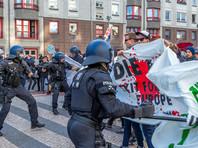 В Берлине в ходе акции левых в защиту мигрантов задержали десятки человек