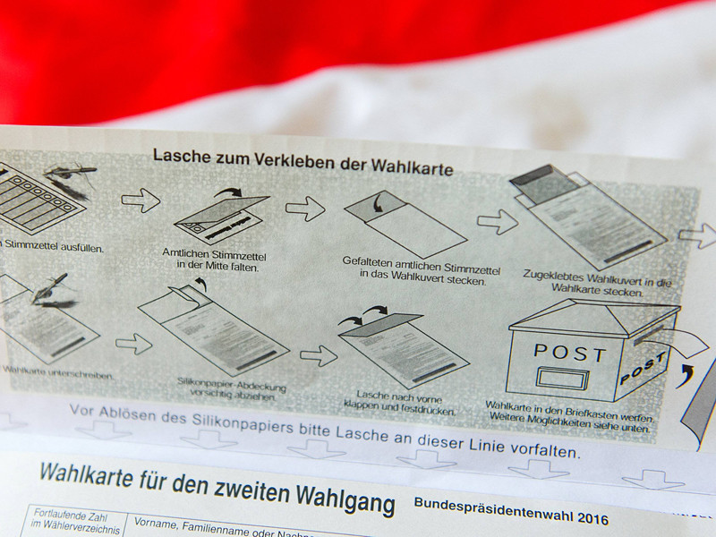 Сроки проведения дополнительного тура президентских выборов в Австрии будут перенесены из-за дефекта бюллетеней для голосования по почте - они не заклеиваются