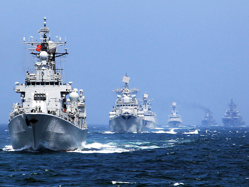 """Учения """"Морское взаимодействие - 2014"""", Восточно-Китайское море, май 2014 года"""