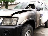 В Ивано-Франковске подожгли машину ОБСЕ