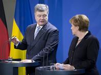Порошенко и Меркель договорились о трехсторонней телефонной конференции c участием Олланда