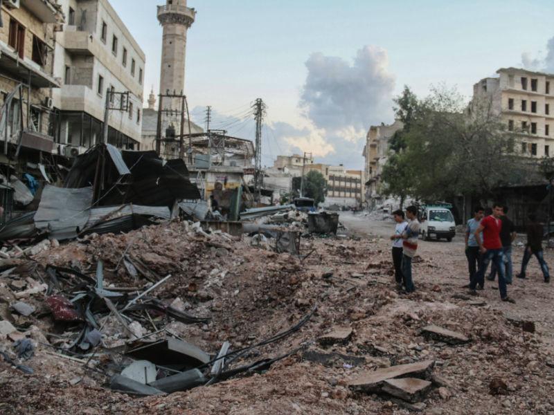 Последствия ударов по Алеппо