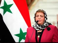 Власти Сирии считают Крым частью территории России. Об этом заявила председатель сирийского парламента Хадия Аббас