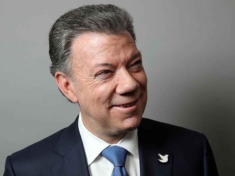 Нобелевская премия мира за 2016 год присуждена президенту Колумбии Хуану Мануэлю Сантосу