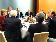 """Сразу после переговоров в """"нормандском формате"""" президент РФ, канцлер Германии и президент Франции приступили к обсуждению ситуации в Сирии"""