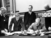 Договор о ненападении между Германией и Советским Союзом, более известный как пакт Молотова - Риббентропа, был подписан 23 августа 1939 года