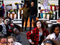 Барак и Мишель Обама станцевали в Белом доме на вечеринке в честь Хеллоуина