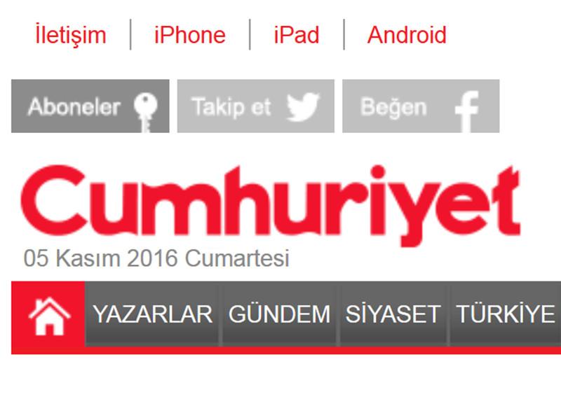 В Турции продолжается волна арестов представителей оппозиции: в субботу суд в Стамбуле выдал ордера на арест главного редактора оппозиционной газеты Cumhuriyet Мурата Сабунджу и восьми других руководителей и журналистов издания