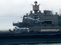 """СМИ: Истребитель с """"Адмирала Кузнецова"""" упал в Средиземное море из-за отказа обоих двигателей"""