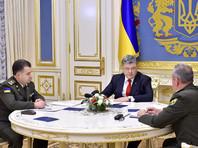 На донбасском фронте со стороны Украины остались только контрактники, объявил Порошенко