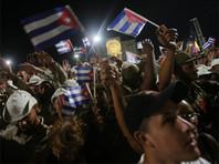 В Гаване на акцию памяти Фиделя Кастро собрались сотни тысяч человек