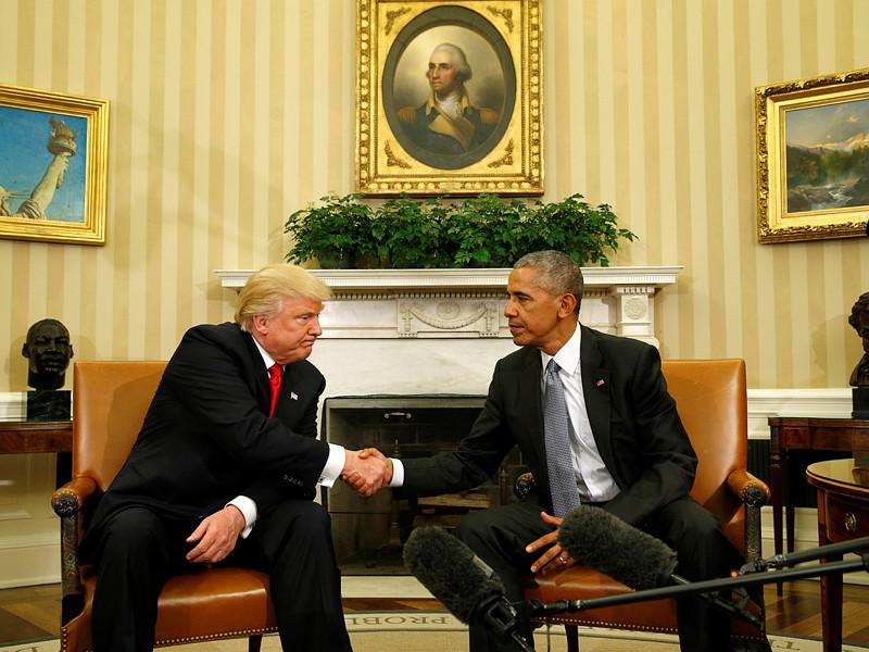 В Вашингтоне в Белом доме президент США Барак Обама провел встречу с победителем президентских выборов республиканцем Дональдом Трампом